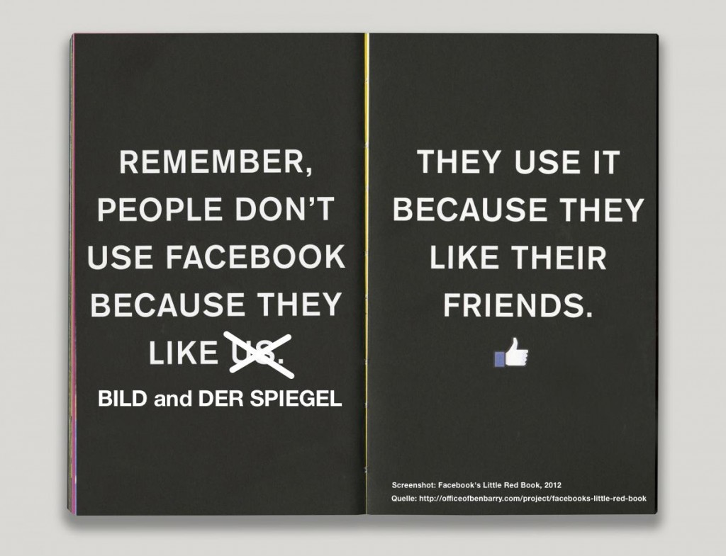 Facebook's Little Red Book, 2012, Montage meinungsfrei.de, 2015